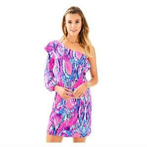 Amante silk jersey dress